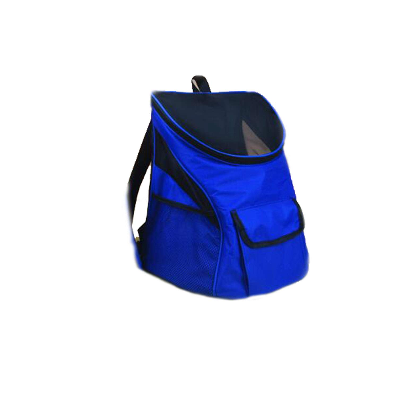 Dog Backpacks Pet Backpack Cat Bag Dog Bag Out Pack Travel Portable Backpack Schoolbag Breathable Mesh Cloth Outcrop Chest,bluee,L