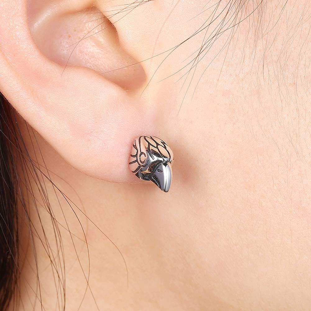 Senmor S925 Silver Plate Cubic Zirconia Stud Earrings Simulated Diamond Earrings