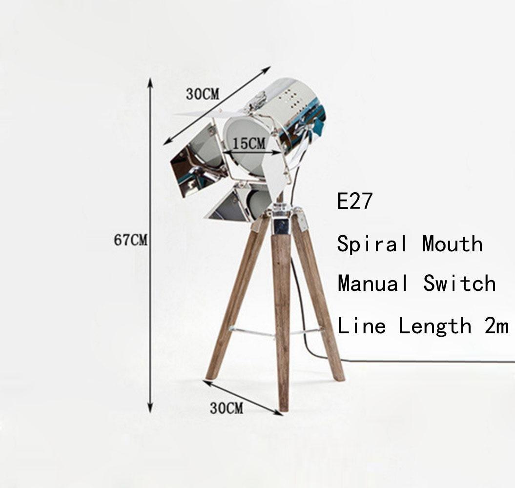 DENG KesiErte KesiErte KesiErte Stehleuchte E14 E27 Spiral Mund Retro Tischlampe Industrial Tripod Fotografie Licht 25W, 40W, 60W, h B07HRJLJHT | Qualitativ Hochwertiges Produkt  e87955