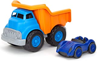 product image for Green Toys Dump Truck Orange w/Blue Race Car