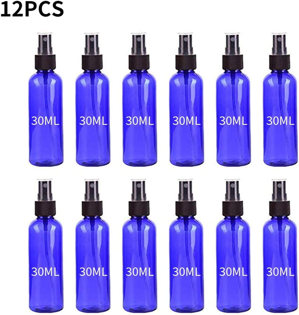 Freeby 12PC Blue Plastic Spray Bottle Portable Multi-Function Small Spray Bottle with Plastic Sprayer 30ML
