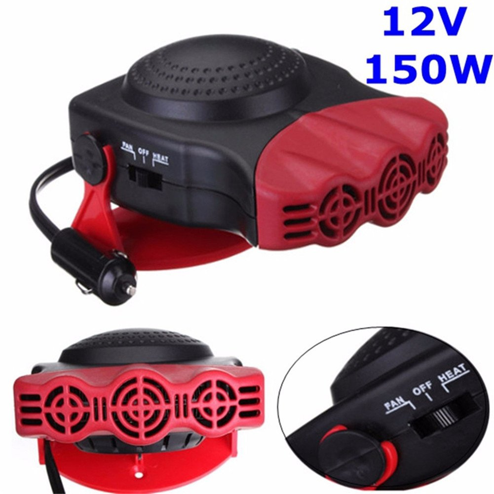 Car Heater,Sundlight Portable 12V 150W Vehicle Heating Defrosts Defogger Auto Ceramic Car Cooling Fan Heater with Fan,6.69