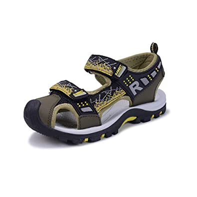 b4f5ef47cc4847 OSVINO Boys    Girls  Summer Outdoor Sport Water Sandals Shoes Closed Toe  for Hiking