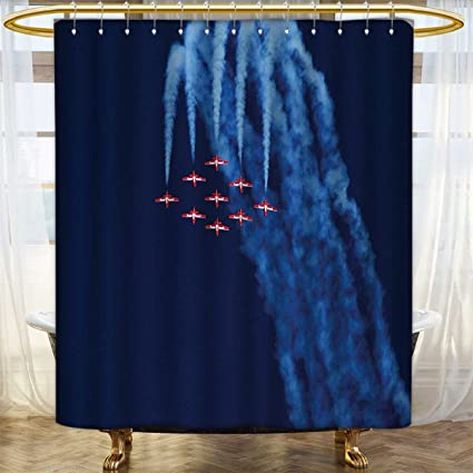 Anhounine Airplane Shower Curtain Collection By Digital View Canadian Descending Snowbirds Up In The Air Military