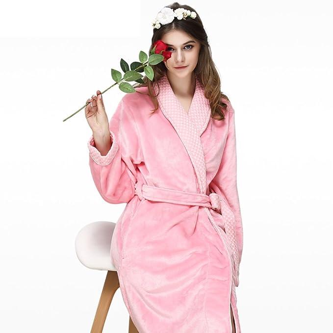 Las Mujeres Traje Largo Pijama De Franela Espesar Otoño E Invierno Largo Keep Warm Conjunto De Pijama: Amazon.es: Ropa y accesorios