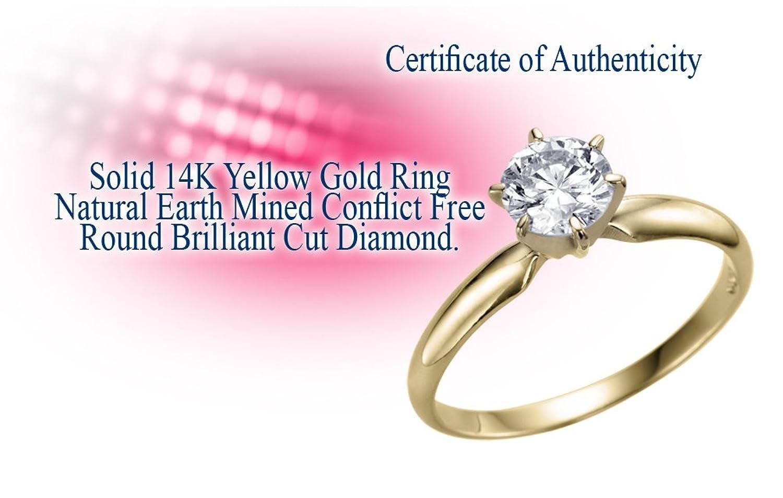 Real Rare Natural 0.22 Carat K I2 Rothem Certified Proposal Diamond ...