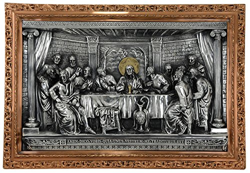 Good Directions 735SCO Large Last Supper Three Dimensional Mural, Silver/Copper/Gold