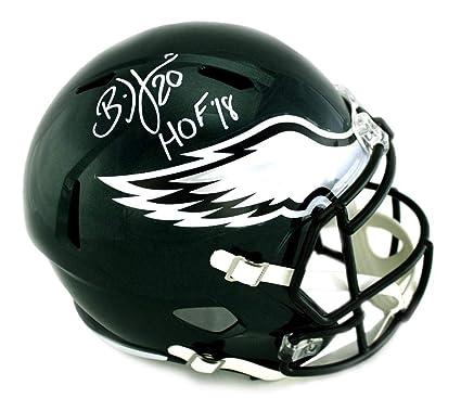 "5d0ddb8da61 Brian Dawkins Signed Philadelphia Eagles Riddell Speed Full Size NFL Helmet  With""HOF 18"""