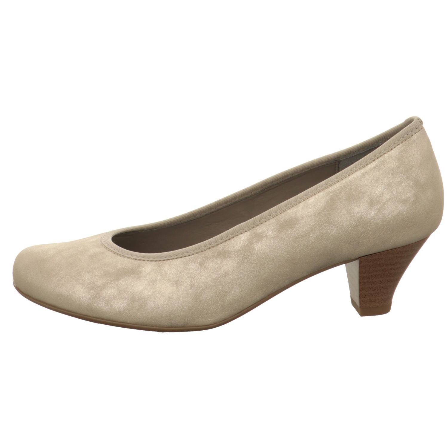 JENNY by ARA Damen Pumps LUFTPOLSTERSOHLE Weite G gold