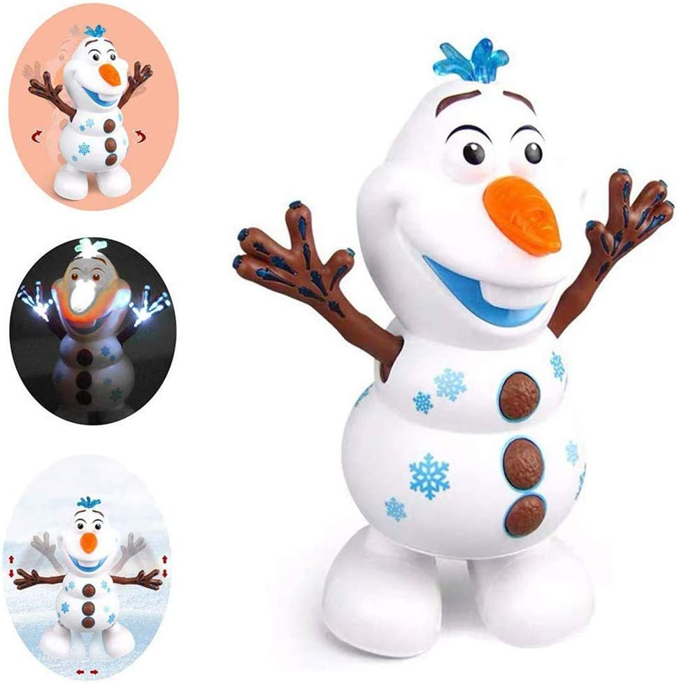 1pcs SLKQQQIQ Dancing Walking Snowman Music Dancer Interactive Doll Christmas Birthday Child Growth Gift