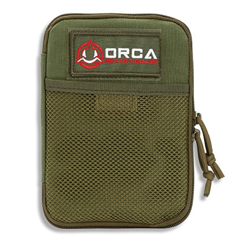 (Orca Tactical MOLLE Gadget EDC Utility Pocket Pouch Organizer (OD Green) )