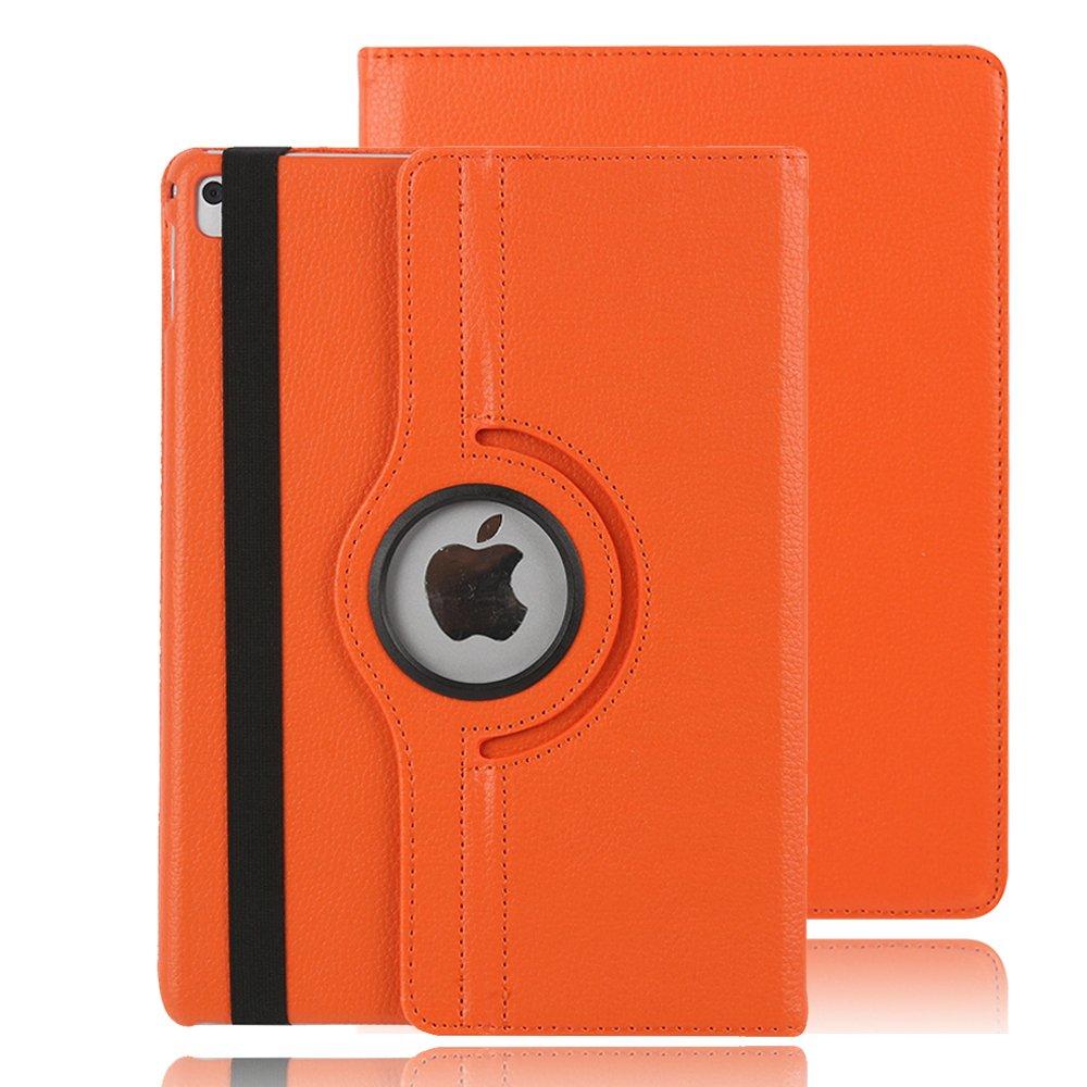 iPad Pro 9.7インチケースカバー、TechCode 360度回転スマートスタンドwithカードスロット画面保護ケースカバーfor Apple iPad Pro 9.7インチタブレット オレンジ B06XTPDVVY オレンジ オレンジ