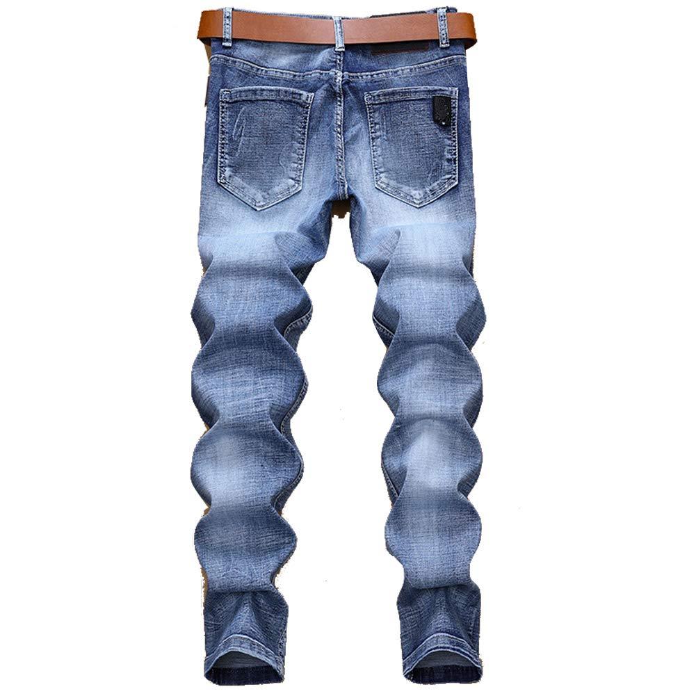 Shunht Mens Personality Slim Fit Denim Jeans Fashion Basic Denim Pants