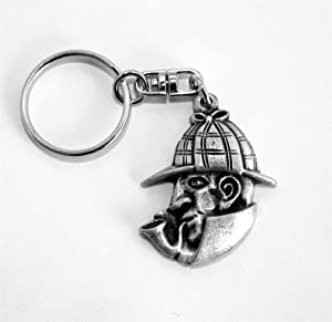 Solid Pewter Sherlock Holmes Keychain