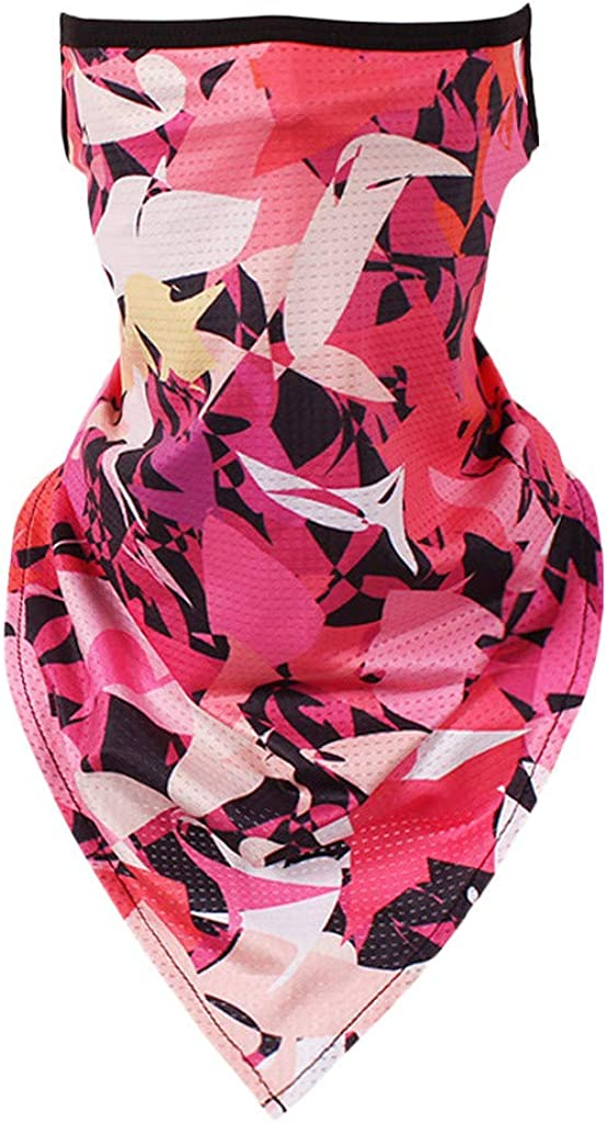 Women Men Colorful Pattern Bandana Dust Scarf,3D Print Rave Facescarf Seamless Neck Gaiter Tube Windproof Headwear