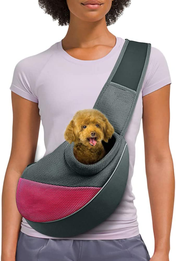 AOFOOK Dog Cat Sling Carrier - The Best Dog Carrier Sling for Long-Haired Dogs