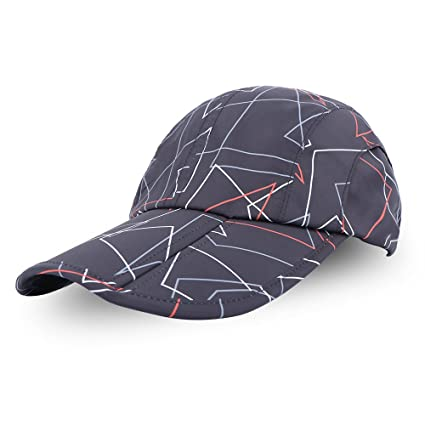 d76cfce644d Anyoo Foldable Baseball Cap Hat Great Sun Protection Sports Travel Sun Hat  Adjustable Compact Breathable Quick