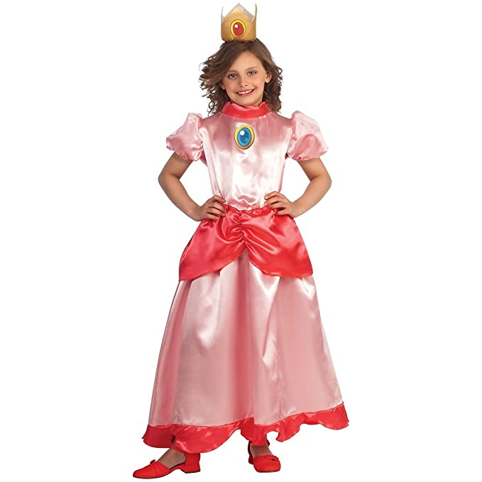 sc 1 st  Amazon.com & Amazon.com: Rubies Super Mario Princess Peach Costume: Clothing