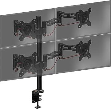 Duronic DM354 Soporte para 4 Monitores con Brazo de Escritorio ...