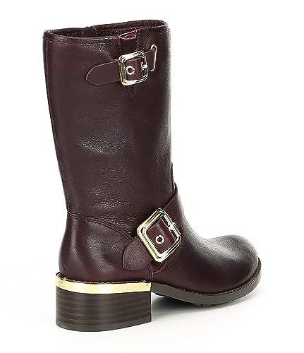 c8fe4c3c847 Amazon.com | Vince Camuto Women Windy MID Calf Moto Boots Leather ...