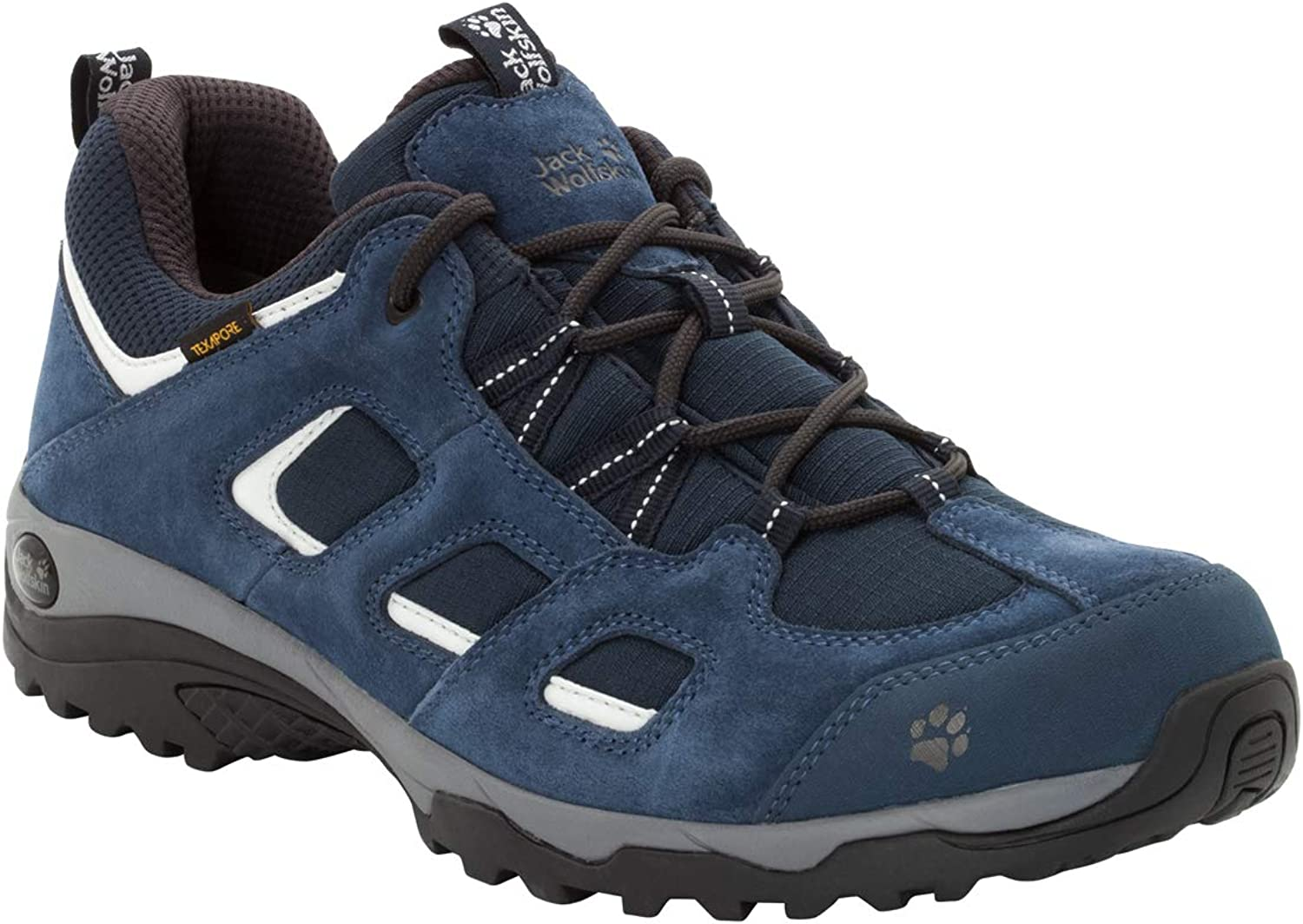 Jack Wolfskin Vojo Hike 2 Texapore Low Men's Waterproof Hiking Shoe, Night Blue, US Men's 10,5 D US