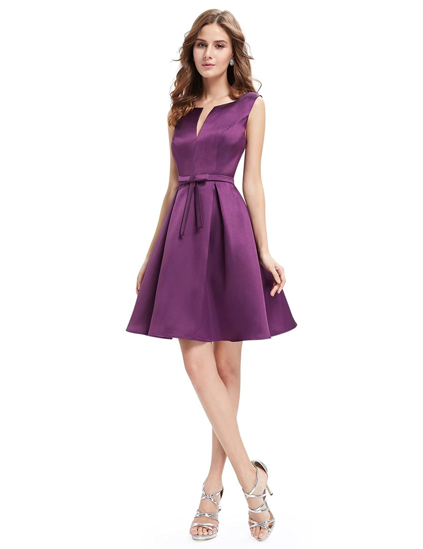 Alisapan Damen Elegant Ärmellos Kurz A-linie Party Kleid 05396 jetzt ...
