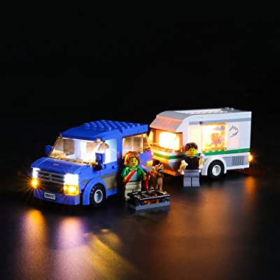 LIGHTAILING Light Set for (City Great Vehicles Van & Caravan) Building Blocks Model - Led Light kit Compatible with Lego 60117(NOT Included The Model): Toys & Games