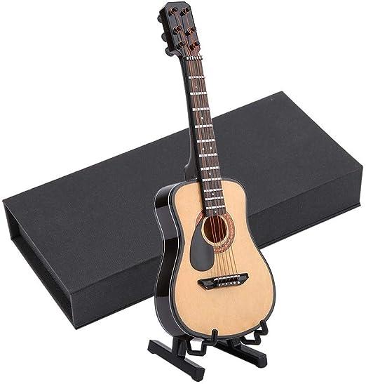 Modelo de Guitarra de Madera en Miniatura Pantalla Mini Adornos ...