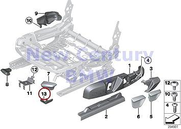 BMW Genuine Front Seat Tail Trim Exterior Left Seat Rail Cover Black 228i 228iX M235i M235iX 228i 228iX M235i M235iX 320i 320iX 328d 328dX 328i 328iX 335i 335iX Hybrid 3 320i 320iX 328d 328dX 328i 328