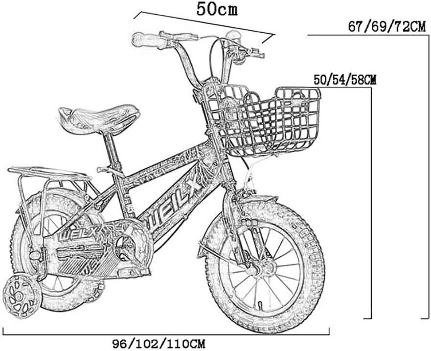 GAIQIN Durable Bicicleta para niños 3-5-7-8 años de Edad, niños y ...