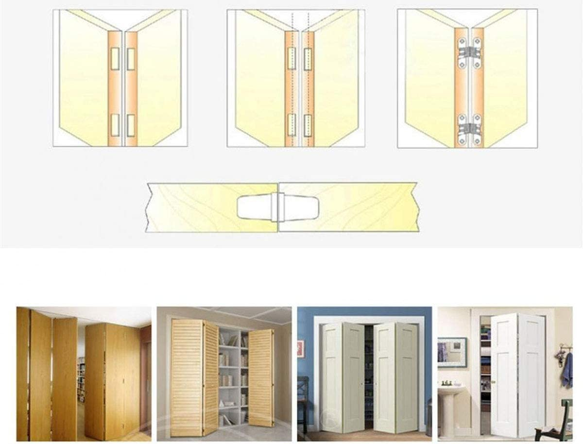 WANLIAN Hidden Door Hinges Invisible Hinges Concealed Hinges Zinc Alloy 180 Degree Swing Hinge 1pair with screw