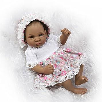 "10/"" Reborn Baby Lifelike Boy Doll Full Body Vinyl Black African American Preemie"