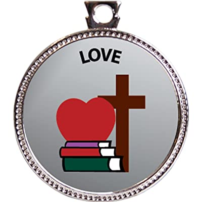 """Love Award, 1 inch dia Silver Medal \""""Character Studies Collection\"""" by Keepsake Awards: Toys & Games [5Bkhe1106047]"""