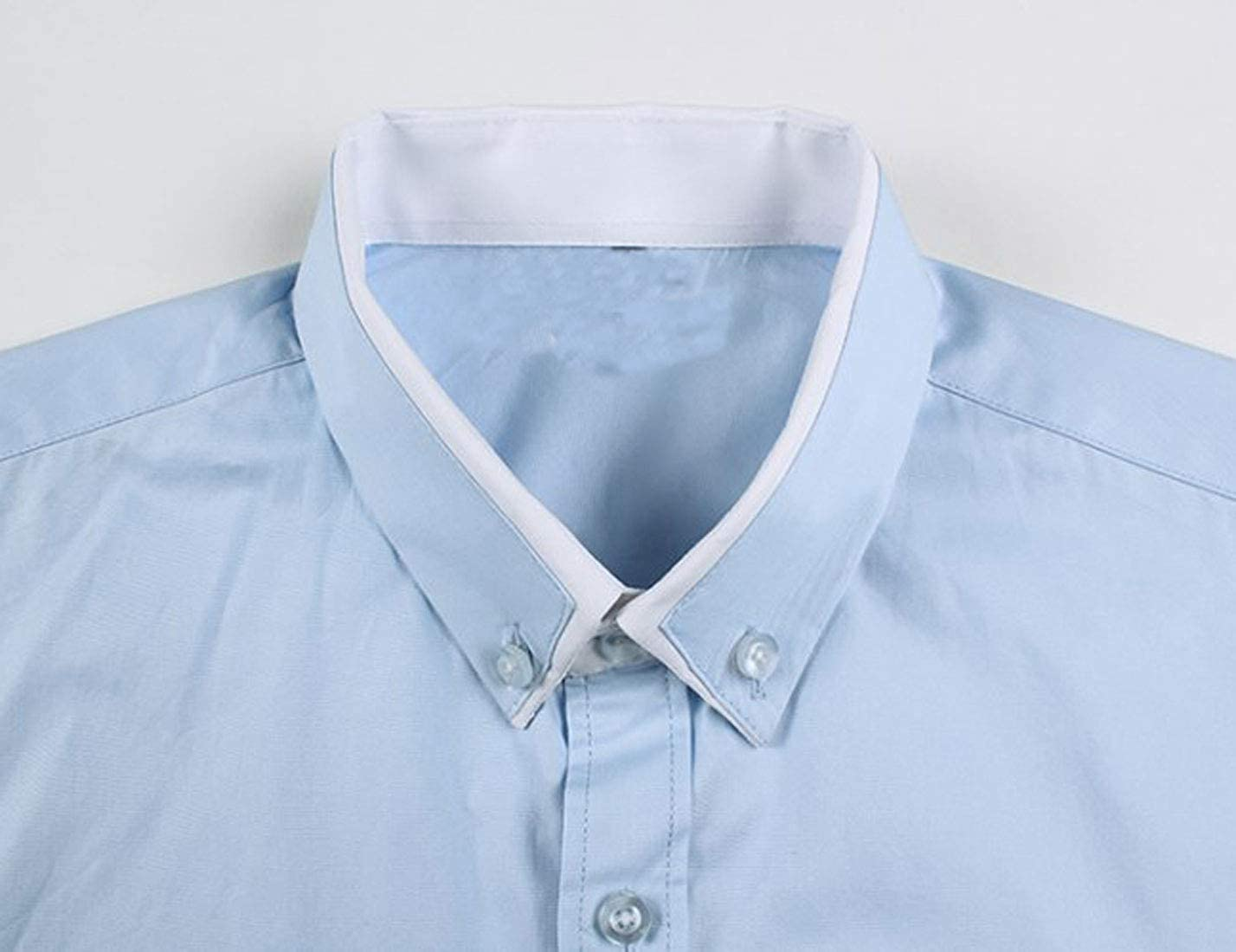 NatrE Men Classic Version Slimming Long Sleeve Fashion Plus-Size Cotton Shirt