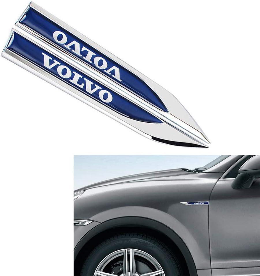 DEMILLO New 3D Car Logo Car Emblem Chrome Stickers Decals Badge Labeling for Volvo XC70 V50 C30 S60 V70 SEE Emblem Chrome,Pack of 2