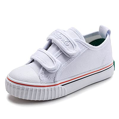Believed Fashion Sneakers Kids Classic Casual Velcro Canvas Shoes for Boys Girls (Toddler/Little Kid)