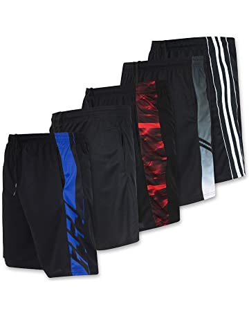 93f7e22bc46b5c Real Essentials Men s Active Athletic Performance Shorts with Pockets - 5  Pack