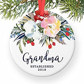 Amazon.com: Grandma 2018 New Grandmother for Nana Grandmom New Baby ...
