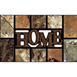 Apache Mills Masterpiece Home Slate Door Mat, Brown, 18-Inch by 30-Inch