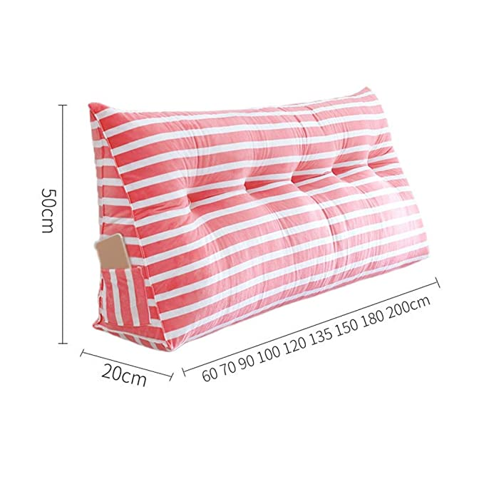 Amazon.com: CSQ - Almohada a rayas, multicolor, de algodón ...