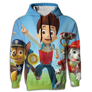 LOCPM LICOPC Long Sleeve Paw Patrol Chase Wallpaper 3D Printed Beautiful Mens Pullover
