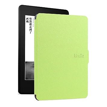 DATOUDATOU E-Reader Funda para Kindle 8 Generación Ebook Piel Dura ...
