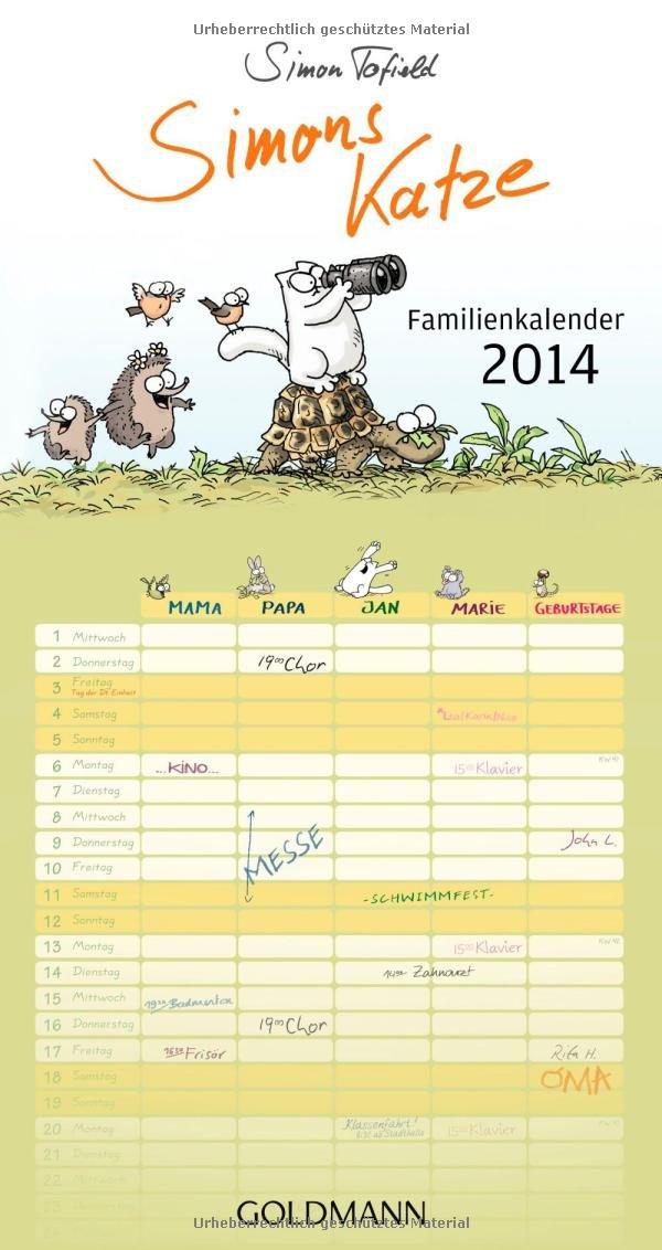 Simons Katze Familienkalender 2014