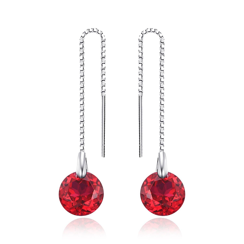 JewelryPalace Elégant Boucles d'Oreilles Clous et Puces Femme en Argent Sterling 925