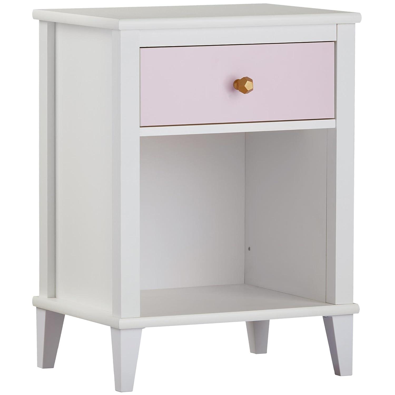 Little Seeds Monarch Hill Poppy Nightstand, White/Pink