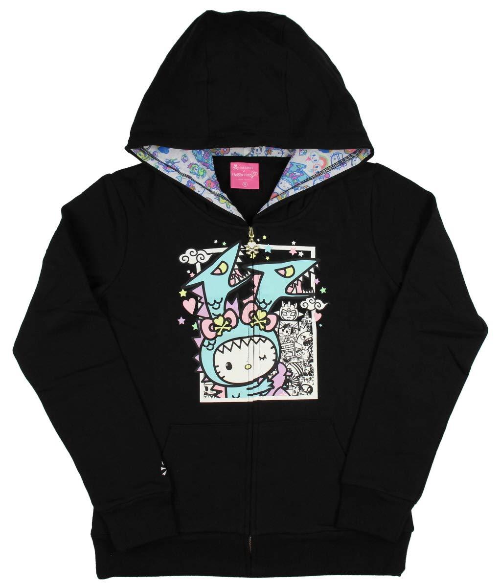 Tokidoki x Hello Kitty Womens' Kawaii Kitty Kaiju Hoodie Jacket (Medium)