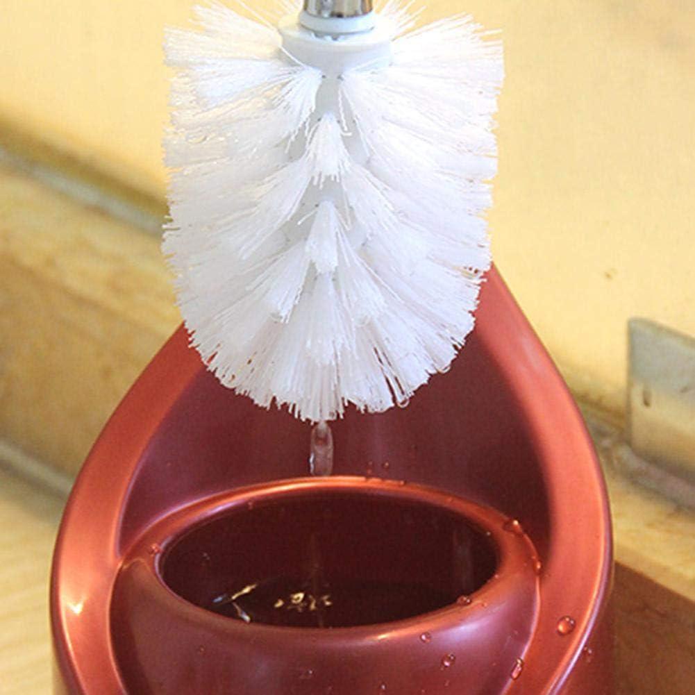 Blanco, Cabezal de escobilla de repuesto 3.54 pulgadas cabezal de escobilla de repuesto escobilla para inodoros pl/ástico