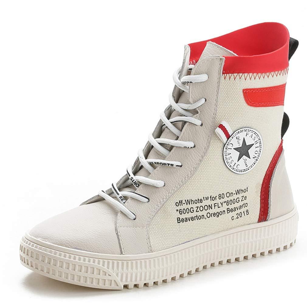 YAN damen es Stiefel New Spring Canvas High-Top Casual schuhe Breathable Walking schuhe Outdoor Wanderschuhe Fitness & Cross-Training Schuhe,B,35