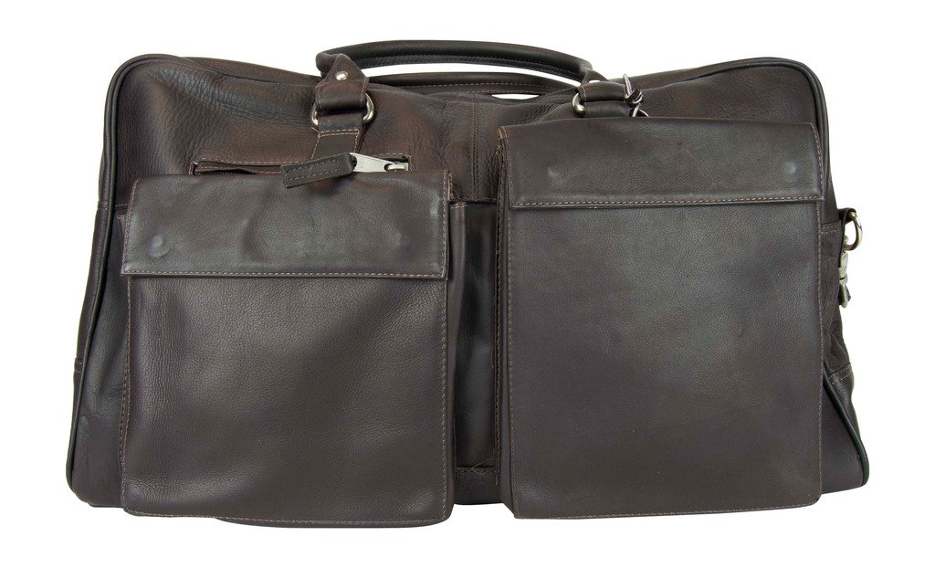 Latico Leathers Basics Two Pocket Duffel , Authentic Luxury Leather, Designer Fashion, Top Quality Leather, Cafe, one size by Latico (Image #1)