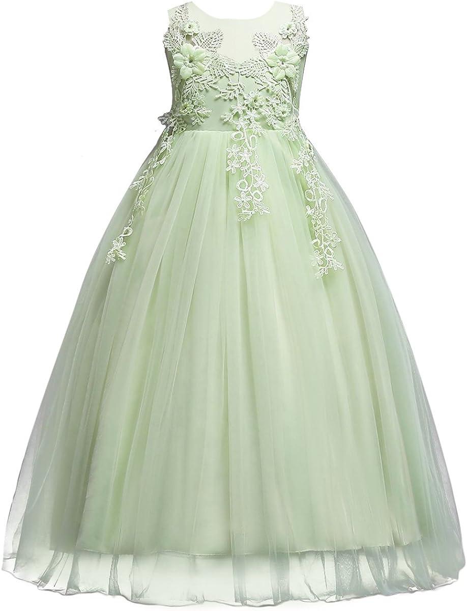 AQUA Flower Girl Dress Pageant Party Wedding Graduation Dance Recital Formal